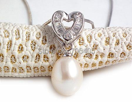 Jansun Corazón Perlas Naturales de Plata 925 Colgante de Joyería de Perlas de Agua Dulce 100% Garantizado yh48020