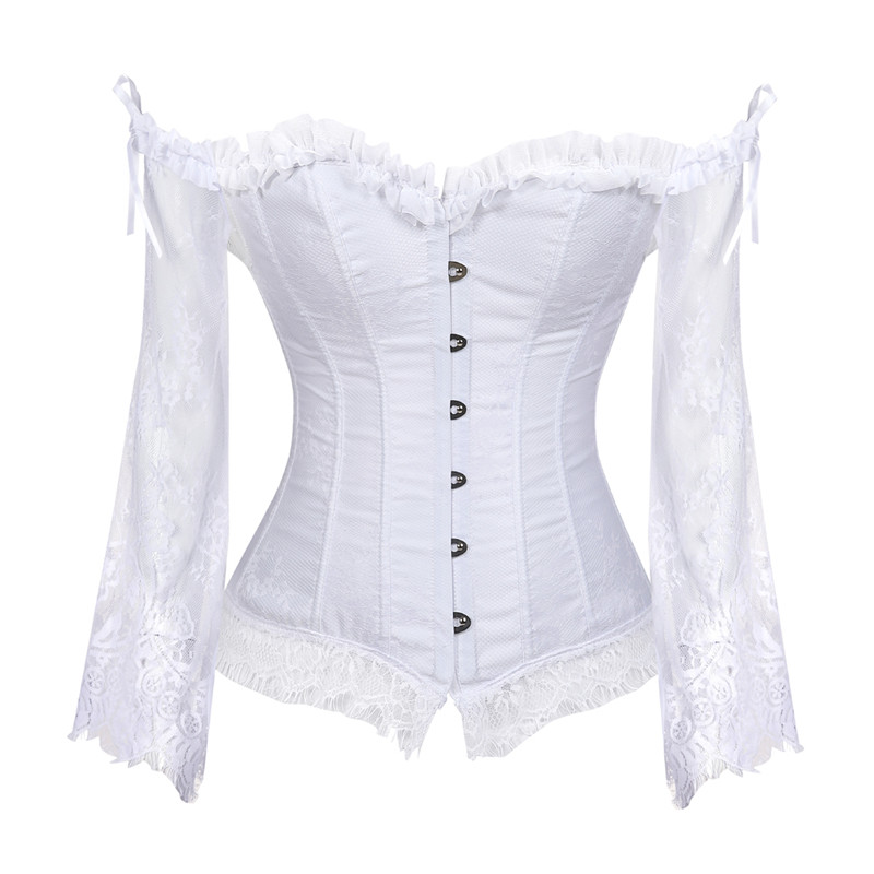 4b762261c5d Detail Feedback Questions about Sapubonva Corset Tops for Women with  Sleeves Vintage Style Victorian Retro Burlesque Lace Corset and Bustiers  Vest Fashion ...