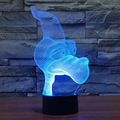 USB Powered Touch Switch Colorful Gradient 3D Optical Illusion Cartoon Pterosaur Visualization Unique Home Decor Night Light