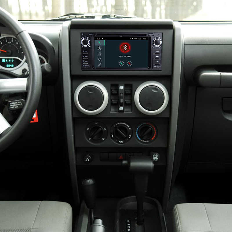 "Android 8,1 стерео CD DVD плеер автомобиля радио мультимедиа навигации 6,2 ""FM Bluetooth Wi Fi gps для Jeep Wrangler Dodge Chrysler"