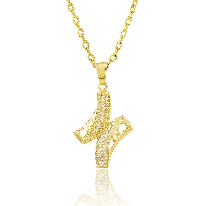 24 К Jewelry Для женщин Интимные аксессуары 24 К Желтая Позолота геометрический Подвески Ожерелья для мужчин для Для женщин Мода бразильский Оже...