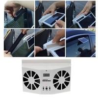Plegable Ventana Solar Powered Car Auto Air Vent Ventilación de Enfriamiento de Doble Ventilador Enfriador Sistema de Mini Herramientas de Aire Acondicionado