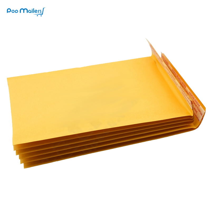 10pcs #1 7.25x11inch 205*280mm Cushioned Bubble Adhesive Packing Mailer Bags/Waterproof Bubble Envelopes/Kraft Bubble Envelope