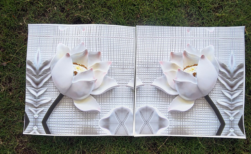Modular Pictures 3D Art Flower Lotus Poster Wall Art Modular Paintings For Kitchen Wall Pictures Living Room Canvas Painting
