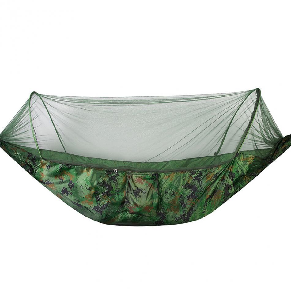 Sensible Portable High Strength Parachute Fabric Camping Hammock Hanging Bed With Mosquito Net Sleeping Hammock Camping & Hiking