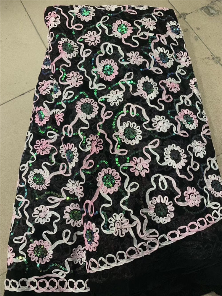 Sequins Nigerian Lace Fabric Dubai Embroidered French Tulle Lace Latest  Lace Fabric African Lace Fabric 2019(6-19Sequins Nigerian Lace Fabric Dubai Embroidered French Tulle Lace Latest  Lace Fabric African Lace Fabric 2019(6-19