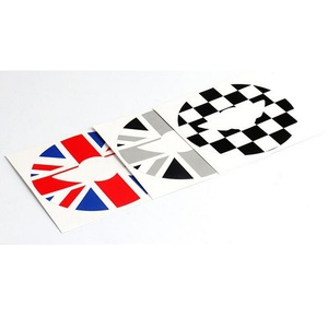 Image 2 - Union Jack Steering Wheel Center Sticker Decals Decoration for BMW MINI Cooper JCW F55 F56 Interior Car Styling Accessories