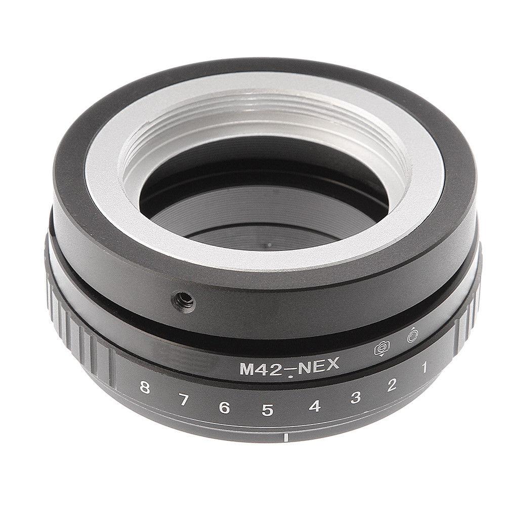 FOTGA Tilt-shift 360 grados anillo adaptador para M42 lente Sony E NEX-3 3C 3N 5 F3 A6000 a5000 A3500 A3000 A7 A7R Dslr Cámara