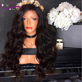 High Density Free Part Body Wave Brazilian Hair Lace Front Wig With Baby Hair Virgin Brazilian Full Lace Wig Soft Human Hair Wig
