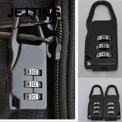 1PCS High Quality Travel Luggage Suitcase Combination Lock Padlocks Case Bag Password Digit Code Bag Locks Black