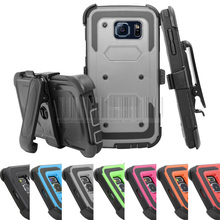 Heavy Duty Anti-Shock Future Armor Protective Case Cover+Holster With Belt Clip For Samsung Galaxy S6 G920 G9200