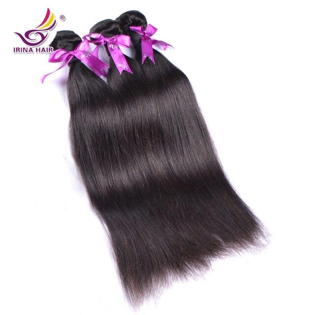 Irina belleza productos para el cabello 7A sin procesar peruana virgen remi rectas paquetes de pelo humano 5 unids/lote cekc extensiones de cabello natural