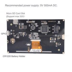 Image 4 - 7.0 inç Nextion geliştirilmiş rezistif NX8048K070_011R USART HMI LCD dokunmatik ekran modülü ekran w/muhafaza Arduino ahududu