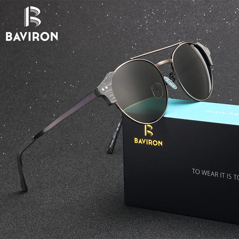 462fb0f1d Barato BAVIRON Marca Original Designer Unissex Óculos De Acetato De Madeira  Semelhante Make Mão Retro Oval