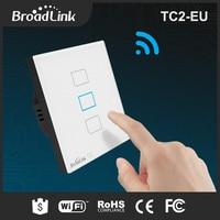 EU Standard Broadlink TC2 3Gang Wireless Remote Control Wifi Wall Light Touch Screen Switch 170V 250V