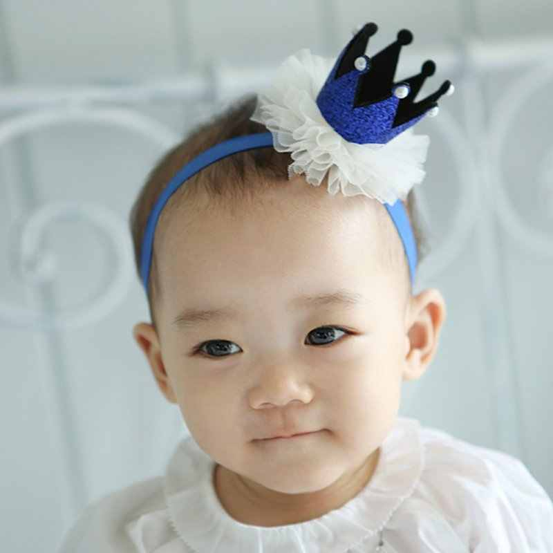 ... 1 PC Girl s Head Accessories hairband Baby Princess Queen Rhinestone  Tiara Hair Band Headband Kids Elastic ... 1e33be8f0404