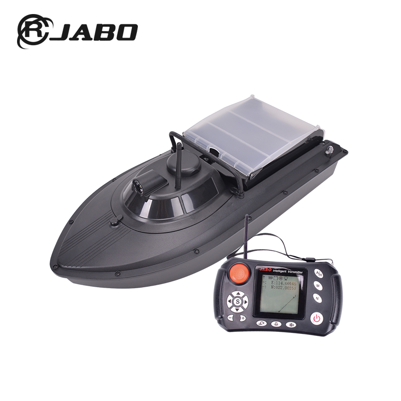 JABO ABS newest bait boat rc fishing boat with GPS rc bait boat newest stable mid size camouflage jabo 2al 20a rc carp fishing bait boat jabo bait boat