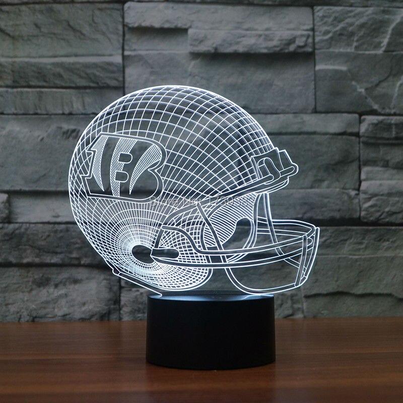 3D led logo light on helmets slong light furniture as football gifts