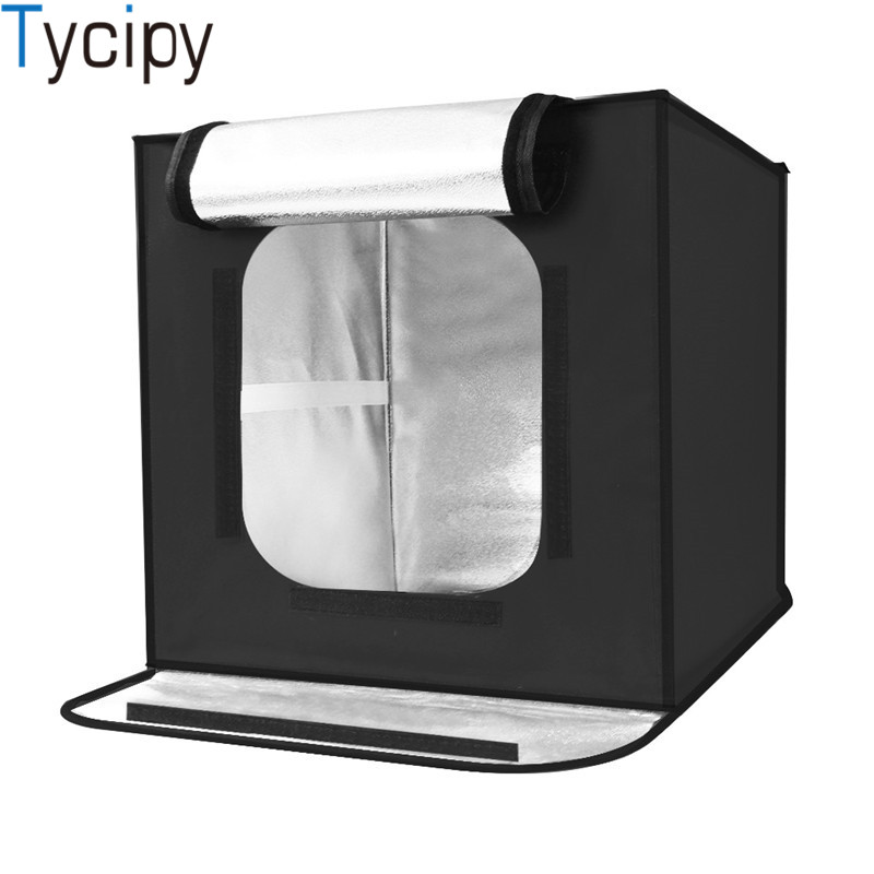 Tycipy Professionnel 40*40 cm 16inc lumière Photo Studio boîte photograghy Softbox Led Photo Éclairage Studio Tir Tente Boîte kit