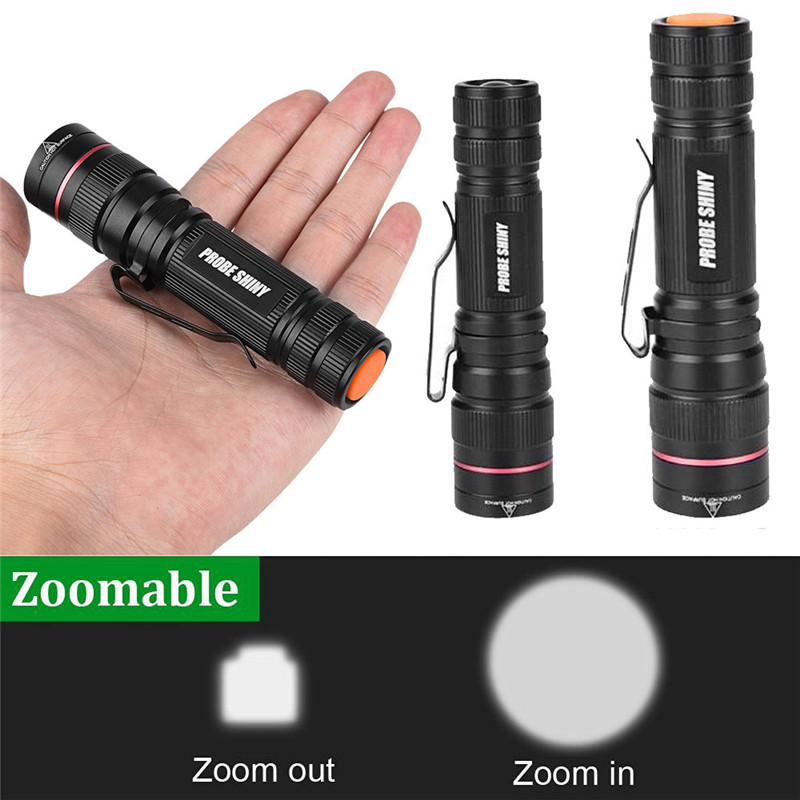 B2 3000LM Zoomable XM-L Q5 LED 14500 18650 Flashlight Torch Super Bicycle Light High Quality Camping & Hiking Hunting