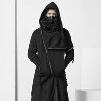 Панк готический Асимметричный пиджак индивидуальная Мужская одежда для ночного клуба стилист волос костюм Темный тонкий странные вещи хип