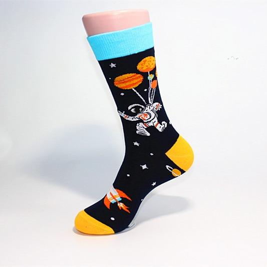 Newest Novelty Colorful Men 39 s Combed Cotton Casual Dress Socks Astronaut Panda Duck Pattern Funny Skateboard Socks For Gifts in Men 39 s Socks from Underwear amp Sleepwears