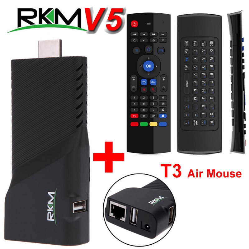 Rikomagic RKM V5 Mini PC RK3288 4 K Android 4.4 TV Box Quad Core 2G 16G H.265 XBMC Bluetooth Double Wifi Intelligent TVbox Google IPTV