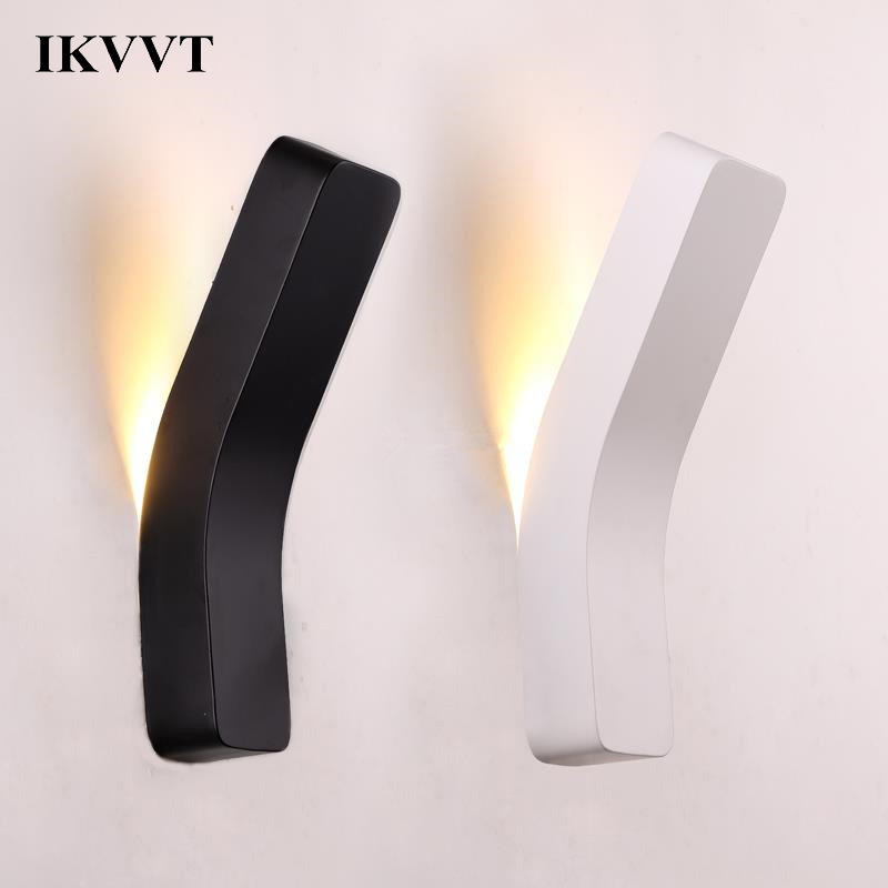 IKVVT Modern LED Wall Lamp Iron Wall Light Bedside Room Bedroom Bathroom Geometric Shape Light Fixtures Arts Black White IKVVT Modern LED Wall Lamp Iron Wall Light Bedside Room Bedroom Bathroom Geometric Shape Light Fixtures Arts Black White