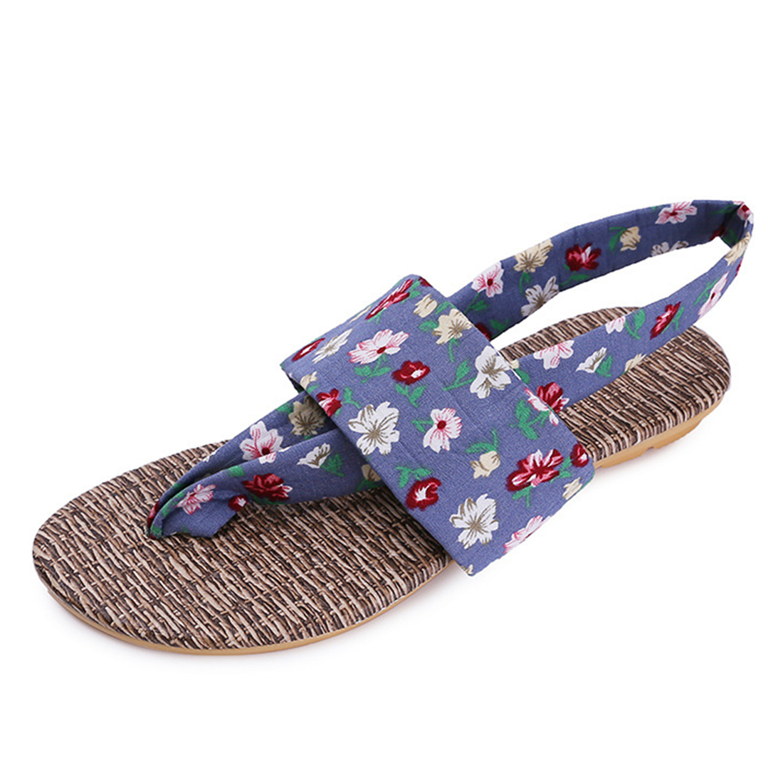 Casual Beach Slipper Sandals Brand New design Summer Flower printing Flip Flop big Size Shoes women new 2017 sandals 2016 new famous brand buckle womens flip flop sandals summer beach sandals af327