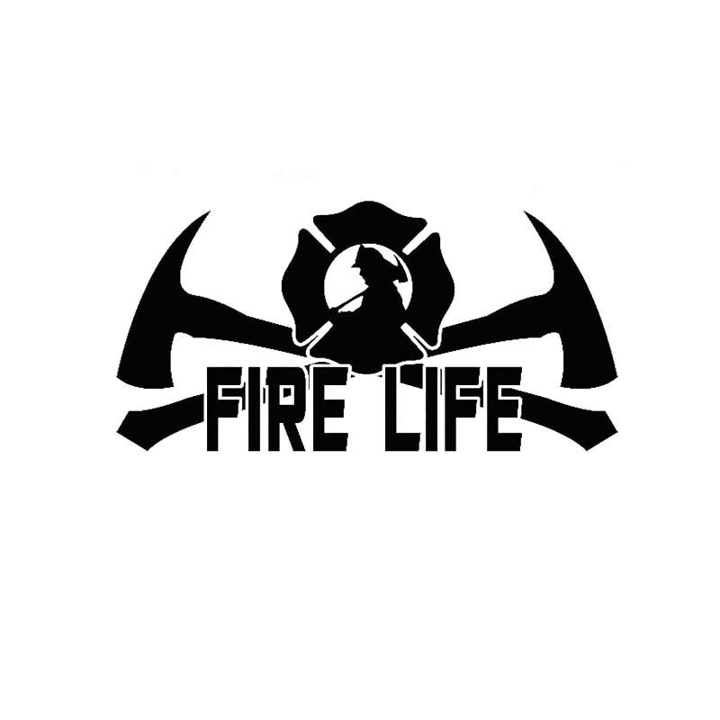 20.3CM*9.9CM Fire Life Fireman Firefighter Vinyl Decal EMT