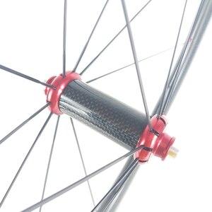 Image 3 - SUPER LEGGERO 1420g 45 millimetri copertoncino figura di U bici da strada in fibra di carbonio etero pull fossette wheelset Powerway mozzi R36 fossetta ruote