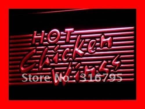 I122 Горячая куриные крылышки Принадлежности для шашлыков магазин бар светодиодный неоновый свет знак включения/выключения 20 + Цвета 5 размер…