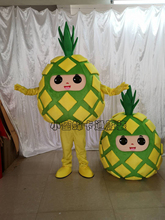 Pineapple Mascot Costume Fruit Cartoon Apparel Halloween Birthday Cosplay Adult Size Performance Prop costume Outfit