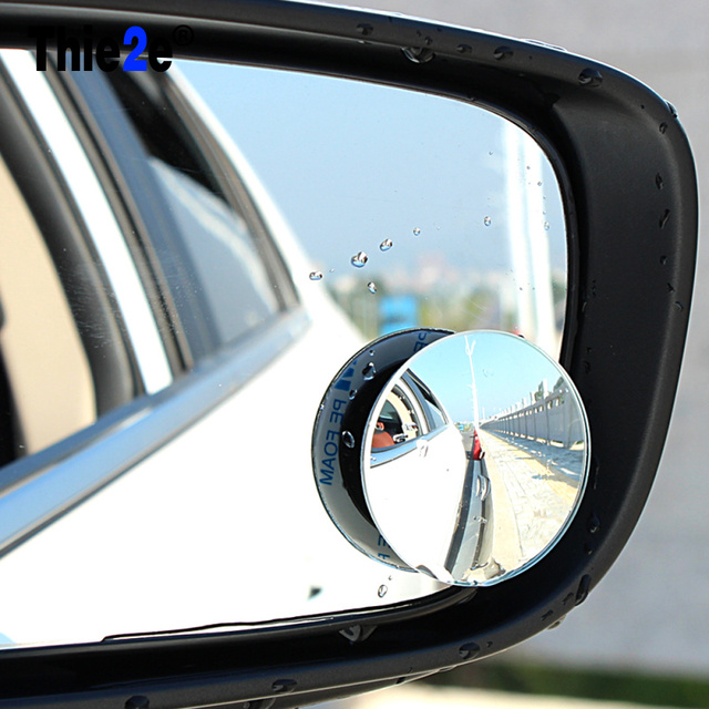 2pcs Car Wide Angle Round Convex Blind Spot Mirror For Honda Hr V Fit Accord