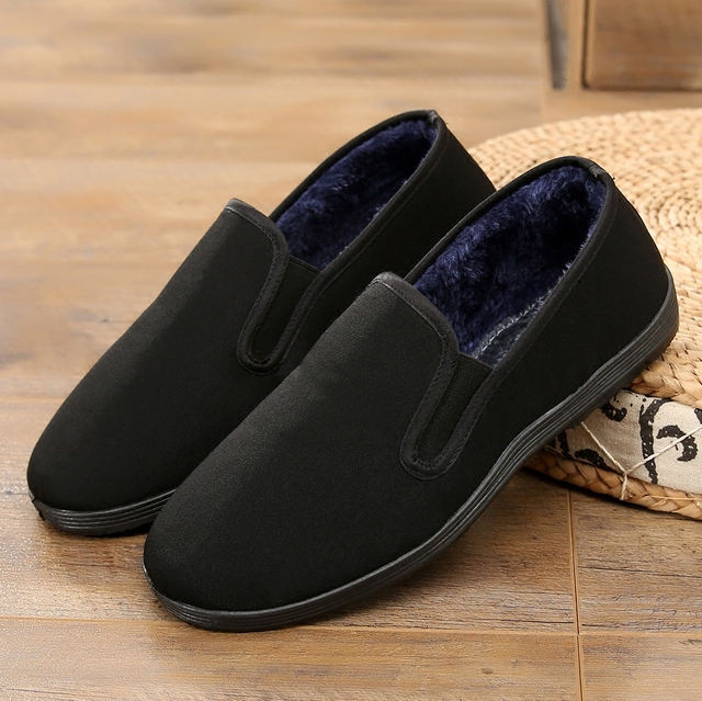 Зимние Bruce Lee Винтаж хлопковая обувь китайский Одежда высшего качества обувь кунг-фу WingChun занятий тапочки M Книги по искусству ial Книги по искусству натуральный хлопок обувь