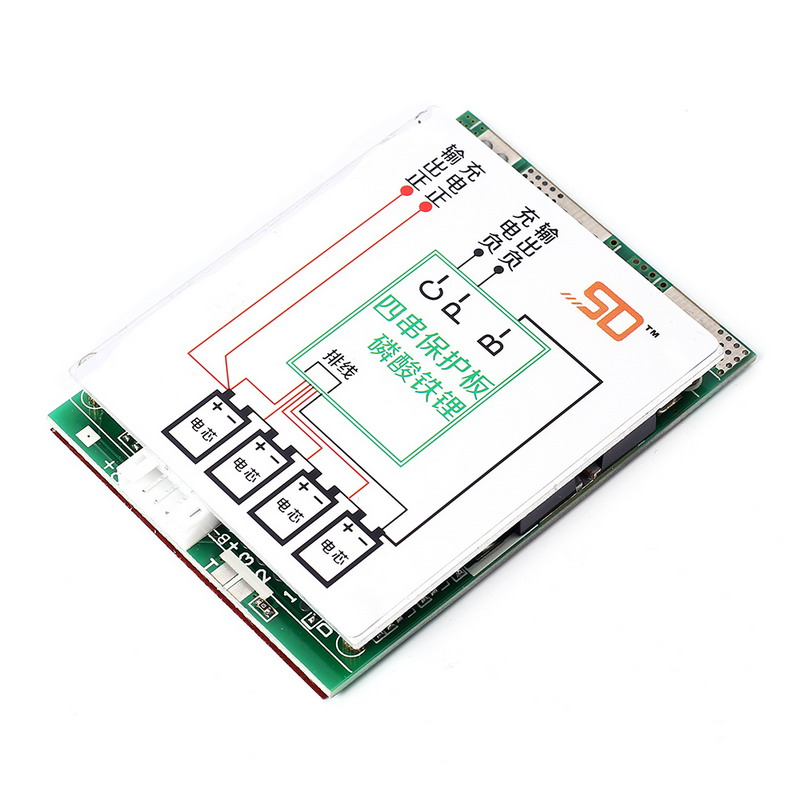 4S 150A Polymer Lithium Battery Charger Protection Board PCB Split-Pins Li-ion Charging Module With Balanced Points BMS