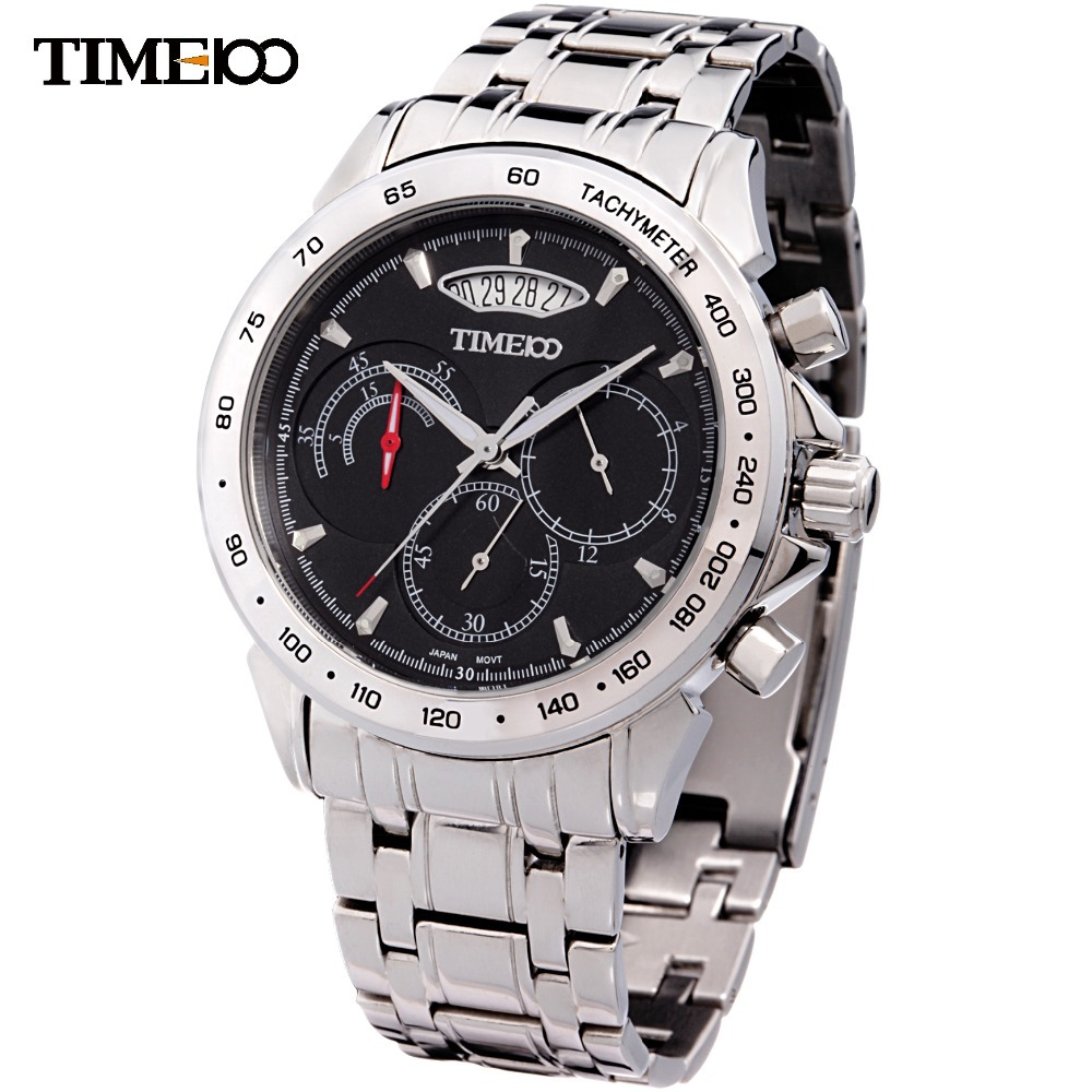 Time100 Three-circle Men's Watch Brand Watches Full steel Watch Military Watch Waterproof Male Business Clock Relogio Masculino other voices full circle cd