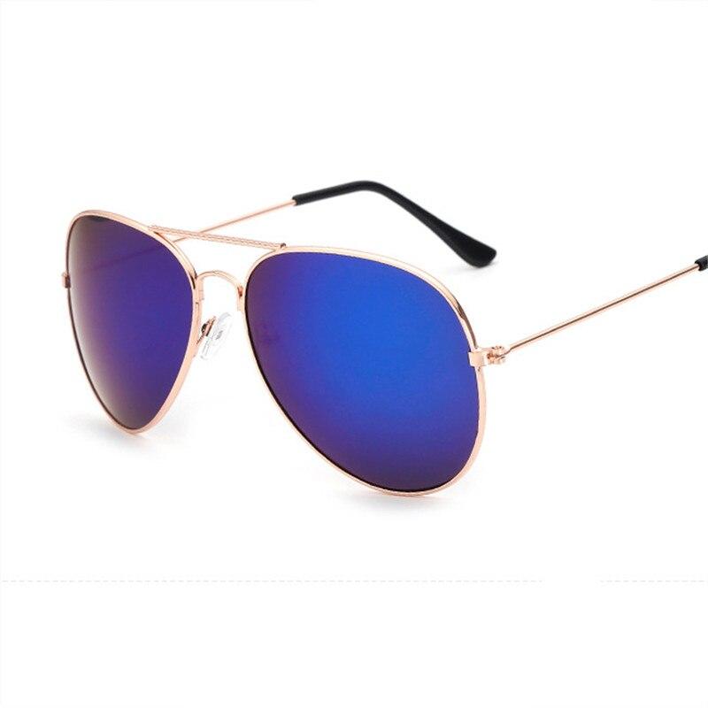 2019 new fashion ladies sunglasses retro brand design oval mens UV400 metal frame reflective