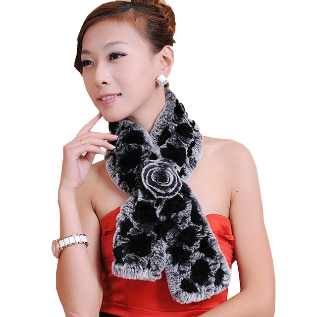 New brand 2015 Hot Scarf Wrap winter Women Rabbit Fur Scarves Lady Casual Scarves wraps Fur Velvet Neck Scarf