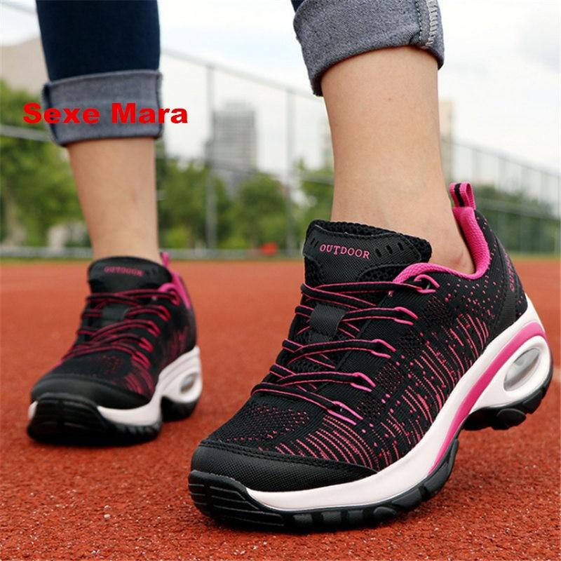 Las Mujeres zapatos de Cuña de la Marca de moda caliente mujer Escalada zapatos