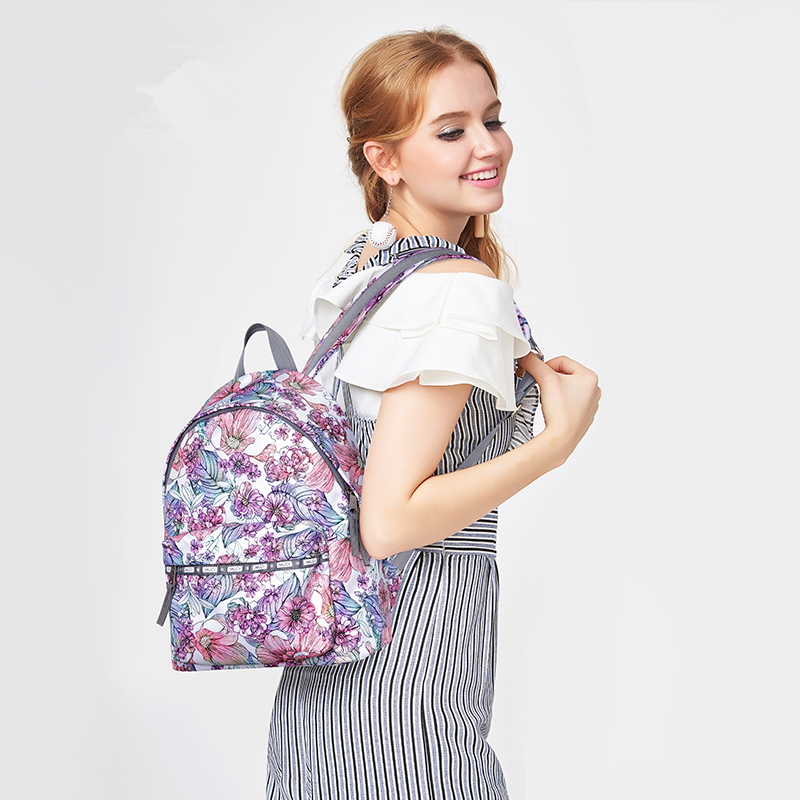 Women Nylon Print Waterproof Campus Backpack For Teenage Girls Student Collegiate Back to School Travel PINK Backpack Laptop Bag тепловентилятор vitek vt 2134 bk 1800 вт дисплей таймер пульт ду чёрный