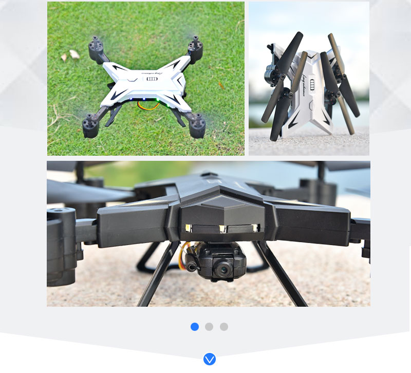 New RC Helicopter KY601S Drone with Camera HD 1080P WIFI FPV RC Drone Professional Foldable Quadcopter  Minutes Battery Life 12