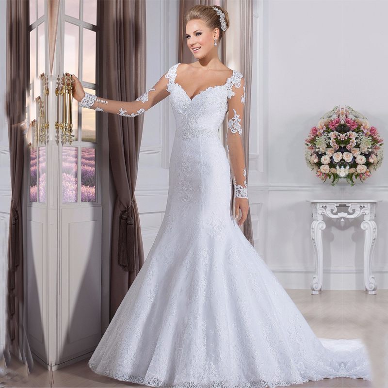 A Line Sweetheart Appliques White Cheap Wedding Gowns 2015 Robe De Mariage Sexy Backless Lace Wedding Dresses Vestido De Noiva