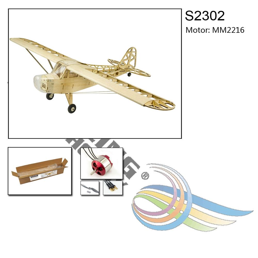 2019 New Piper J3 Cub 1200mm Wingspan Balsa Wood Airplane Models RC  Building Toys Woodiness model /WOOD PLANE