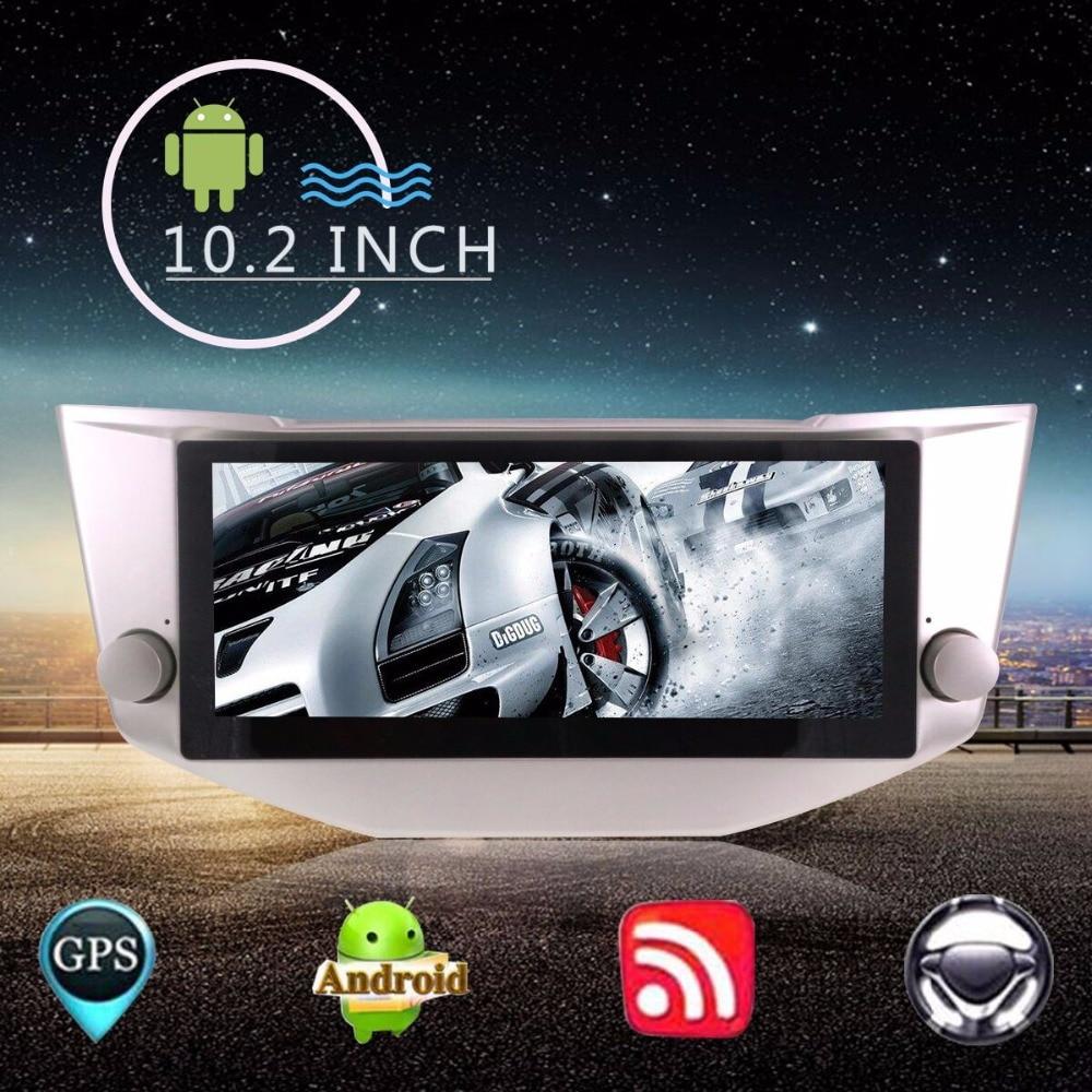 10.2 pouces Grand Écran Android7 Radio navigation gps De Voiture Unité de Tête Pour LEXUS RX-300, 330, 350, 400 h 2003 + POUR TOYOTA Harrier 2003 +