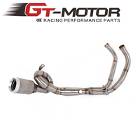 GT Motor Exhaust Full system FOR yamaha FZ 07 MT 07 FZ 07 MT 07 2014 2017 2014 2017 with Muffler XSR700 2016 2017