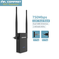 Comfast WR750ACV2 Dual Band 750Mbps Wifi Repeaters Extender 802.11ac Wireless Router AC wifi access point 2.4+5GHz Wi fi