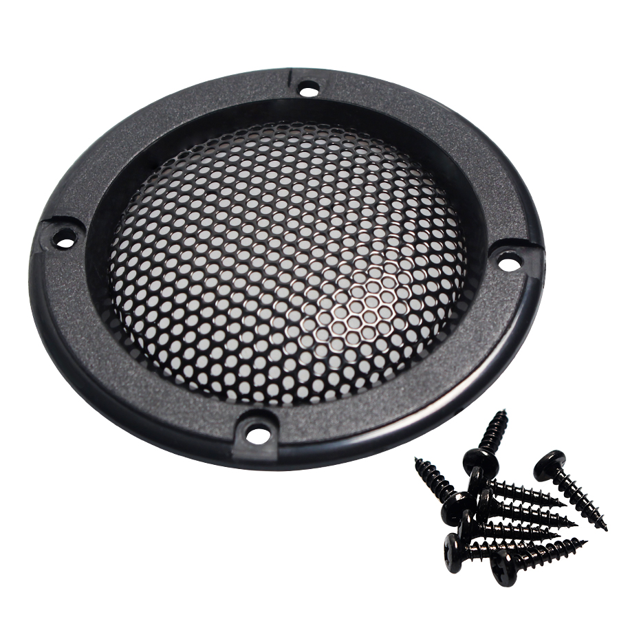 2PCS 2INCH Black Car Speaker Grill Mesh Enclosure Net Protective Cover DIY Speaker Accessories Car Audio Conversion