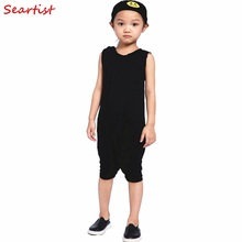 Baby Boys Summer Rompers Newborn Short Jumpsuit Kids Cotton Plain Color Black Gray Playsuits  2016 New Fashion Free Shipping 20C cospot baby boys harem rompers toddler summer plain gray jumpsuits kids tank playsuit boy fashion jumper 2017 new arrival 25f