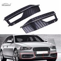 KOLEROADER A4 B9 1 Pair Front Bumper Grills Cover For Audi S Line S4 Quattro Sport